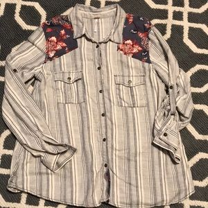Free People Button Down Shirt Women's Size Large